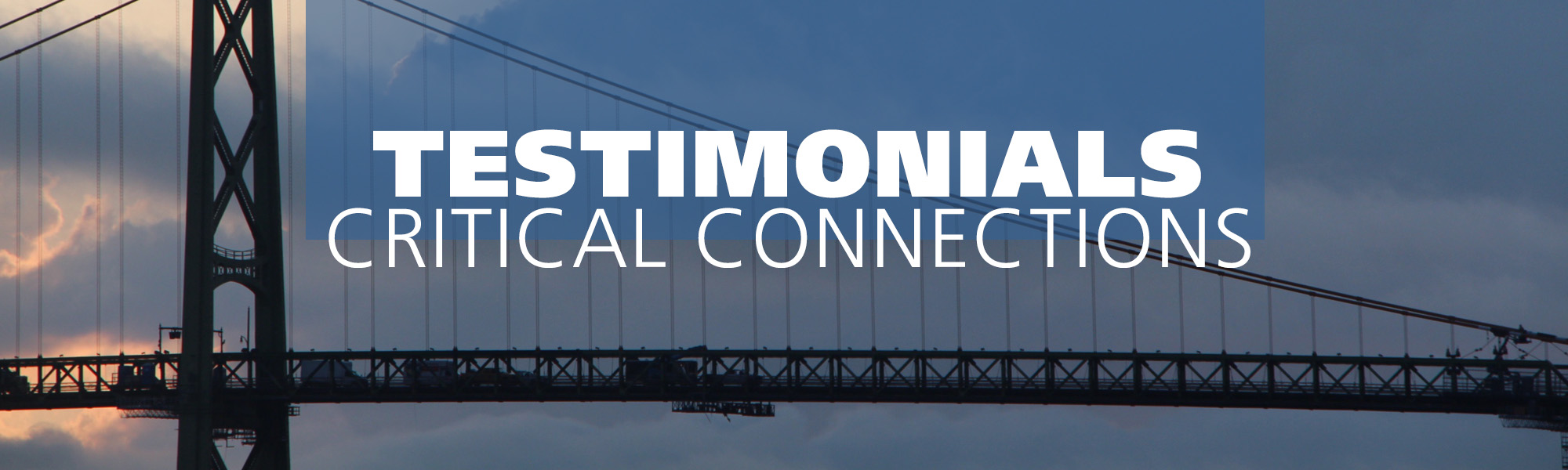 Testimonials-Critical Connections